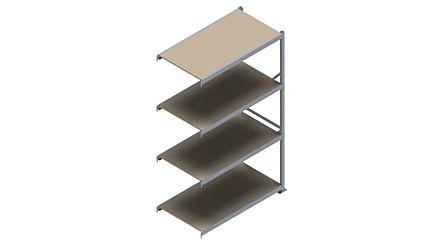 Grootvakstelling HSG 3000 - 2500 x 1543 x 800 - Verstelbare legborden van hout of staal  | Magazijn.nl - De logistieke webshop van Nederland