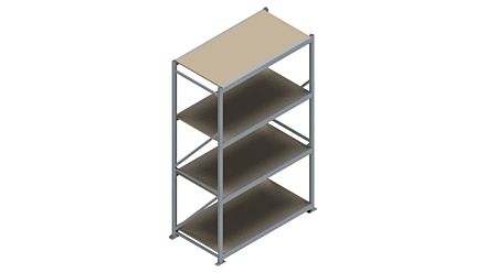 Grootvakstelling HSG 3000 - 2500 x 1586 x 800 - Verstelbare legborden van hout of staal  | Magazijn.nl - De logistieke webshop van Nederland
