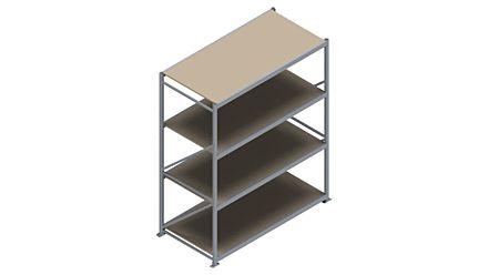Grootvakstelling HSG 3000 - 2500 x 2086 x 1000 - Verstelbare legborden van hout of staal  | Magazijn.nl - De logistieke webshop van Nederland