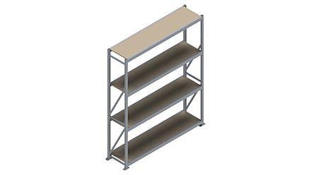 Grootvakstelling HSG 3000 - 2500 x 2086 x 500 - Verstelbare legborden van hout of staal  | Magazijn.nl - De logistieke webshop van Nederland