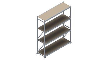 Grootvakstelling HSG 3000 - 2500 x 2086 x 600 - Verstelbare legborden van hout of staal  | Magazijn.nl - De logistieke webshop van Nederland