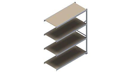 Grootvakstelling HSG 3000 - 2500 x 2043 x 800 - Verstelbare legborden van hout of staal  | Magazijn.nl - De logistieke webshop van Nederland