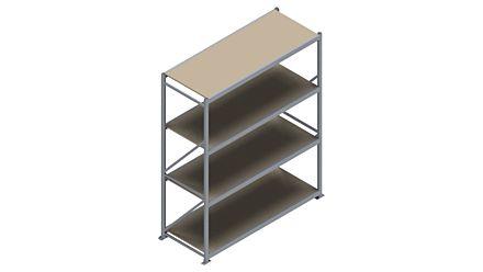 Grootvakstelling HSG 3000 - 2500 x 2086 x 800 - Verstelbare legborden van hout of staal    Magazijn.nl - De logistieke webshop van Nederland