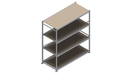 Grootvakstelling HSG 3000 - 2500 x 2336 x 1000 - Verstelbare legborden van hout of staal  | Magazijn.nl - De logistieke webshop van Nederland