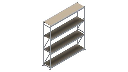 Grootvakstelling HSG 3000 - 2500 x 2336 x 500 - Verstelbare legborden van hout of staal  | Magazijn.nl - De logistieke webshop van Nederland