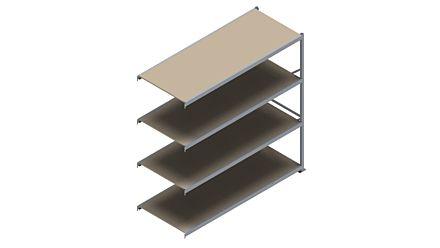 Grootvakstelling HSG 3000 - 2500 x 2543 x 1000 - Verstelbare legborden van hout of staal    Magazijn.nl - De logistieke webshop van Nederland