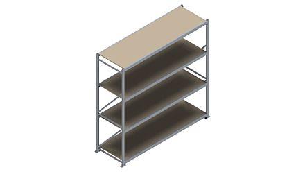 Grootvakstelling HSG 3000 - 2500 x 2586 x 800 - Verstelbare legborden van hout of staal    Magazijn.nl - De logistieke webshop van Nederland