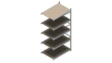 Grootvakstelling HSG 3000 - 3000 x 1543 x 1000 - Verstelbare legborden van hout of staal  | Magazijn.nl - De logistieke webshop van Nederland