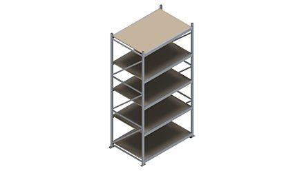 Grootvakstelling HSG 3000 - 3000 x 1586 x 1000 - Verstelbare legborden van hout of staal  | Magazijn.nl - De logistieke webshop van Nederland
