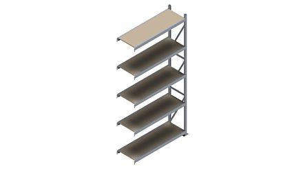 Grootvakstelling HSG 3000 - 3000 x 1543 x 500 - Verstelbare legborden van hout of staal    Magazijn.nl - De logistieke webshop van Nederland
