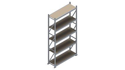 Grootvakstelling HSG 3000 - 3000 x 1586 x 500 - Verstelbare legborden van hout of staal    Magazijn.nl - De logistieke webshop van Nederland