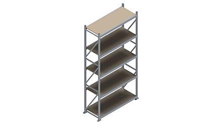 Grootvakstelling HSG 3000 - 3000 x 1586 x 600 - Verstelbare legborden van hout of staal    Magazijn.nl - De logistieke webshop van Nederland