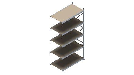 Grootvakstelling HSG 3000 - 3000 x 1543 x 800 - Verstelbare legborden van hout of staal  | Magazijn.nl - De logistieke webshop van Nederland