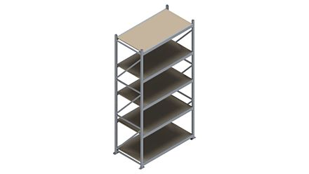 Grootvakstelling HSG 3000 - 3000 x 1586 x 800 - Verstelbare legborden van hout of staal    Magazijn.nl - De logistieke webshop van Nederland