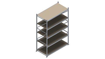 Grootvakstelling HSG 3000 - 3000 x 2086 x 1000 - Verstelbare legborden van hout of staal  | Magazijn.nl - De logistieke webshop van Nederland