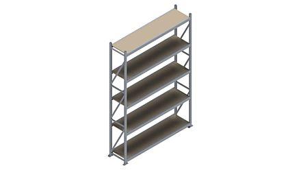 Grootvakstelling HSG 3000 - 3000 x 2086 x 500 - Verstelbare legborden van hout of staal    Magazijn.nl - De logistieke webshop van Nederland