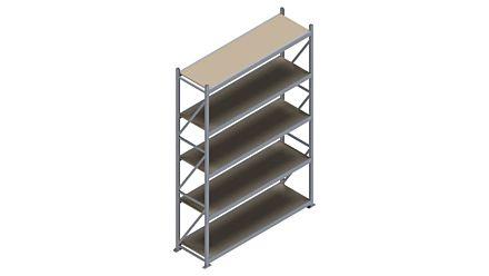 Grootvakstelling HSG 3000 - 3000 x 2086 x 600 - Verstelbare legborden van hout of staal    Magazijn.nl - De logistieke webshop van Nederland