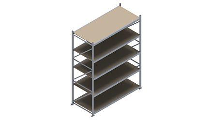 Grootvakstelling HSG 3000 - 3000 x 2336 x 1000 - Verstelbare legborden van hout of staal  | Magazijn.nl - De logistieke webshop van Nederland
