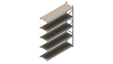 Grootvakstelling HSG 3000 - 3000 x 2293 x 600 - Verstelbare legborden van hout of staal    Magazijn.nl - De logistieke webshop van Nederland