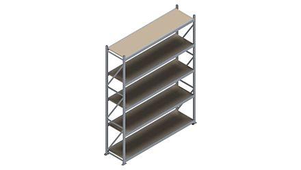 Grootvakstelling HSG 3000 - 3000 x 2336 x 600 - Verstelbare legborden van hout of staal    Magazijn.nl - De logistieke webshop van Nederland