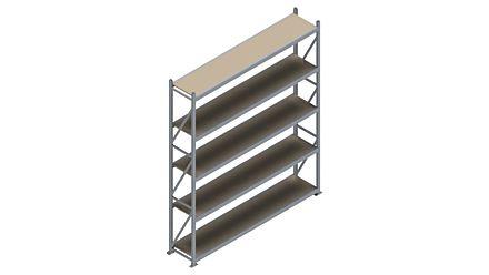 Grootvakstelling HSG 3000 - 3000 x 2586 x 500 - Verstelbare legborden van hout of staal    Magazijn.nl - De logistieke webshop van Nederland