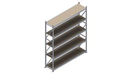 Grootvakstelling HSG 3000 - 3000 x 2586 x 600 - Verstelbare legborden van hout of staal    Magazijn.nl - De logistieke webshop van Nederland