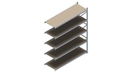 Grootvakstelling HSG 3000 - 3000 x 2543 x 800 - Verstelbare legborden van hout of staal  | Magazijn.nl - De logistieke webshop van Nederland