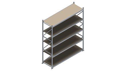 Grootvakstelling HSG 3000 - 3000 x 2586 x 800 - Verstelbare legborden van hout of staal    Magazijn.nl - De logistieke webshop van Nederland