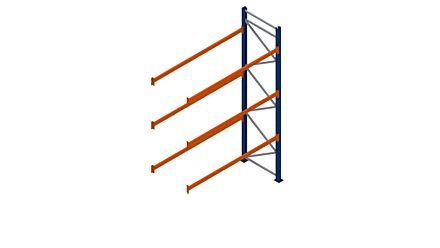 Palletstelling - Aanbouwsectie - 4000x2700x1100 mm met 3 liggerparen