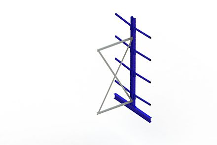 Draagarmstelling Light - 2500 x 1030 x 1420 - Aanbouw
