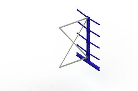 Draagarmstelling Light - 2000 x 1330 x 1420 - Aanbouw