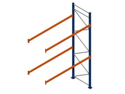 Palletstelling aanbouwsectie 2700 breed 4000 hoog 1100 diep.
