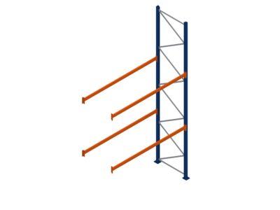 Aanbouwstelling voor pallets - 2 liggerniveaus - Esnova Spanje - Lichte uitvoering