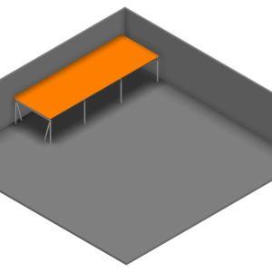 Entresolvloer 15.300 x 5.250 mm - 350 kg
