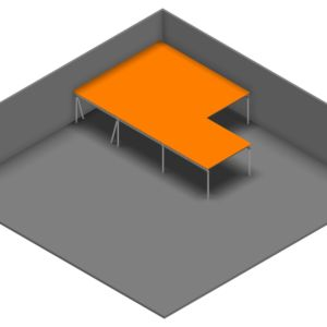 Entresolvloer 15.750 x 10.200 mm - 350 kg