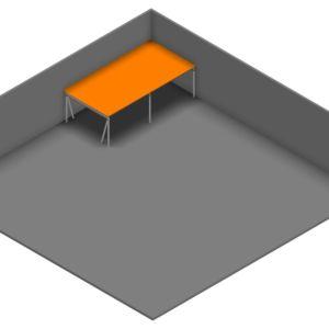 Entresolvloer 10.200 x 5.250 mm - 350 kg