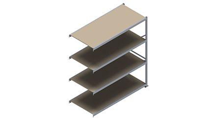 Grootvakstelling HSG 3000 - 2500 x 2250 x 1000 mm - Aanbouwsectie